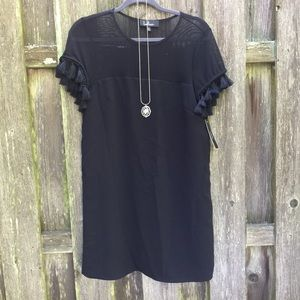 LuLu's Short Sleeved Black Shift Dress, NWT